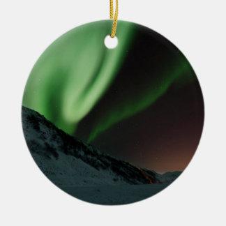 Aurora Northern Lights Norway Round Ceramic Ornament