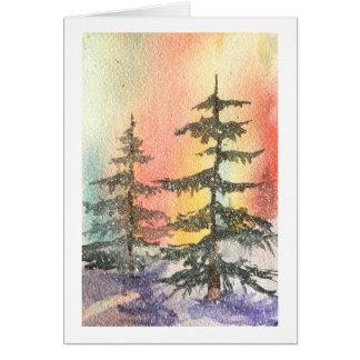 Aurora Northern Lights Note Card