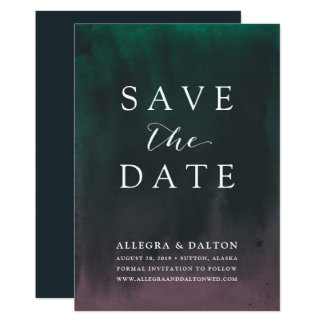 Aurora | Northern Lights Save the Date Card