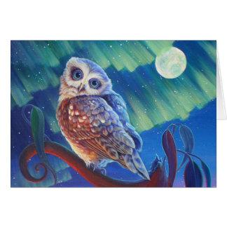 Aurora Owl Card