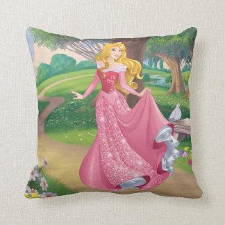 Aurora | Pink Gown Throw Pillow