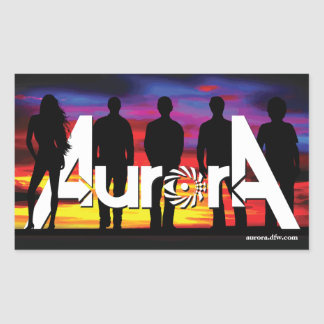 Aurora Rectangular Stickers