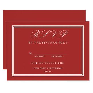 Aurora Red with White Wedding Detail Card