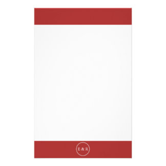 Aurora Red with White Wedding Detail Customized Stationery