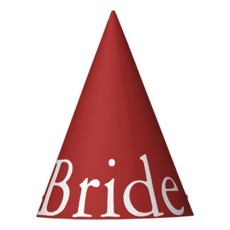 Aurora Red with White Wedding Detail Party Hat