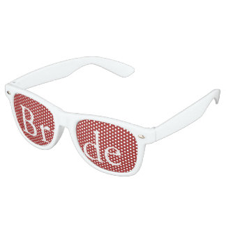 Aurora Red with White Wedding Detail Party Shades