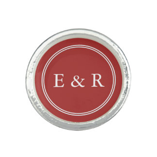 Aurora Red with White Wedding Detail Photo Ring