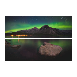 Aurora Trails Canvas Print