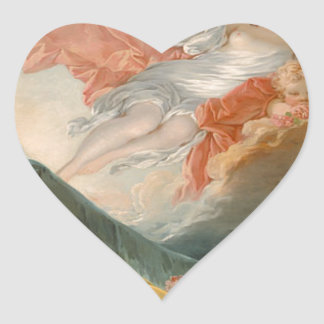 Aurore by Jean-Honore Fragonard Heart Sticker