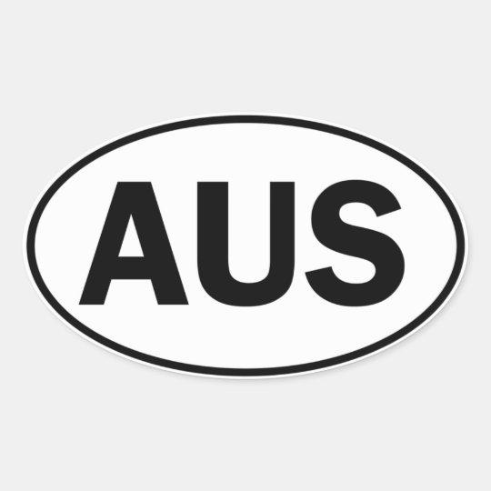 AUS Oval ID Oval Sticker