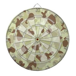 Auscam desert camouflage dartboard