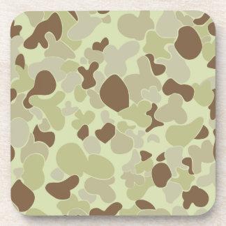 Auscam desert camouflage drink coaster