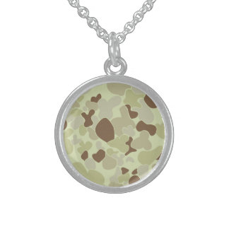 Auscam desert camouflage sterling silver necklace