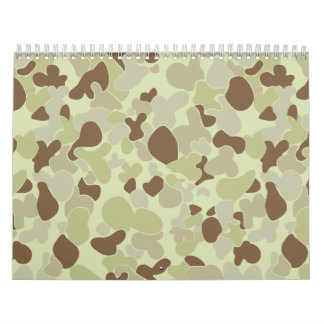 Auscam desert camouflage wall calendar