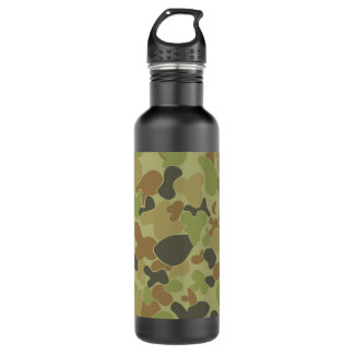 Auscam green camouflage 710 ml water bottle