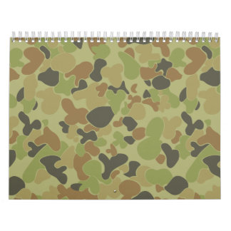 Auscam green camouflage calendars