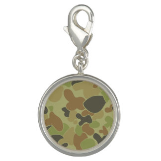 Auscam green camouflage charm