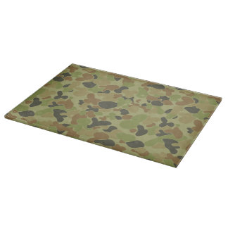 Auscam green camouflage cutting board