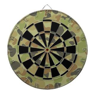 Auscam green camouflage dartboard