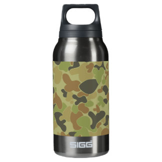 Auscam green camouflage insulated water bottle