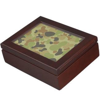 Auscam green camouflage keepsake box