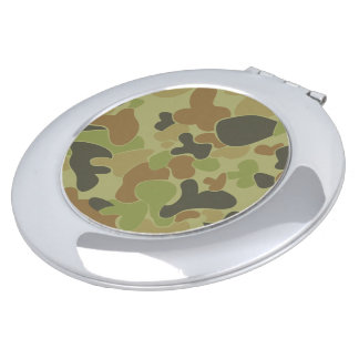 Auscam green camouflage makeup mirrors