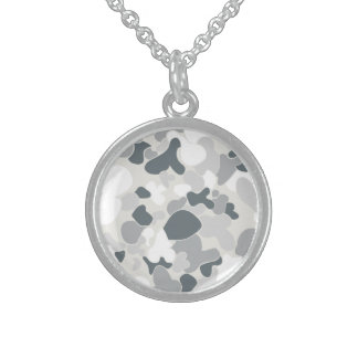 Auscam snow sterling silver necklace