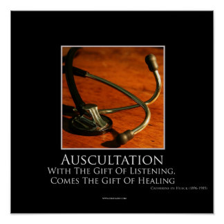 Auscultation Motivational Poster