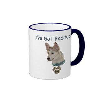 Ausky Dog with Baditude Coffee Mug