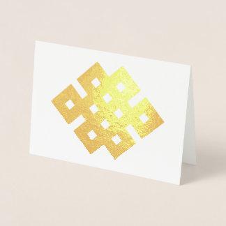 Auspicious Knot Endless Knot Buddhist Symbol Foil Card