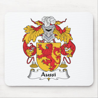 Aussi Family Crest Mouse Pad
