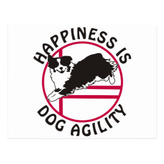 Aussie Agility Happiness Postcard