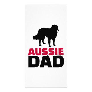 Aussie Australian shepherd Dad Photo Cards