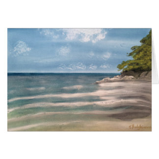 AUSSIE BEACH . WATERCOLOR CARD