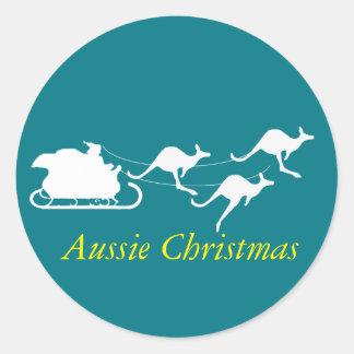 Aussie Christmas sticker down under style holidays