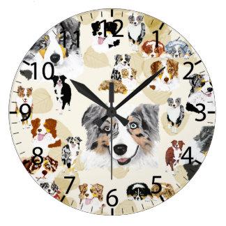 Aussie Collage Large Clock