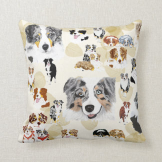 Aussie Collage Throw Pillow
