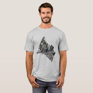 Aussie Crocodile Logo and Croc, Mens Grey T-shirt