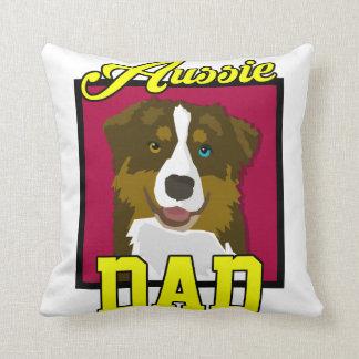 Aussie Dad Throw Pillow