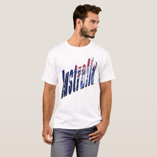 Aussie Dimensional Logo, Mens White T-shirt