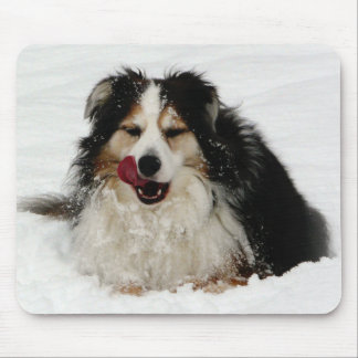 Aussie Dog Tongue Mouse Pad