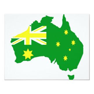 Aussie Flag Map Card