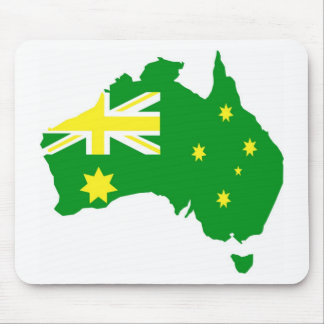 Aussie Flag Map Mouse Pad