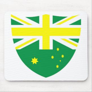 Aussie Flag Shield Mousepads