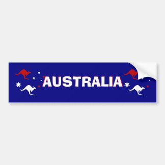Aussie Kangaroo and Southern Cross  Bumper Sticker