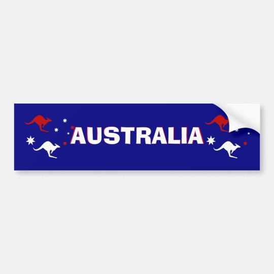 Aussie Kangaroo and Southern Cross  Bumper Sticker
