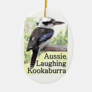 Aussie Laughing Kookaburra Ceramic Ornament