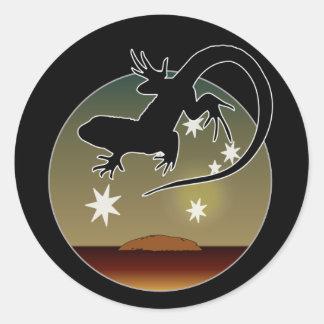 Aussie Lizard Icon Classic Round Sticker