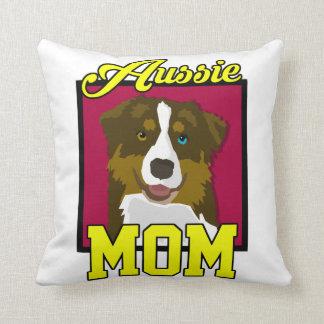 Aussie Mom Throw Pillow