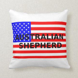 aussie name on flag throw pillow